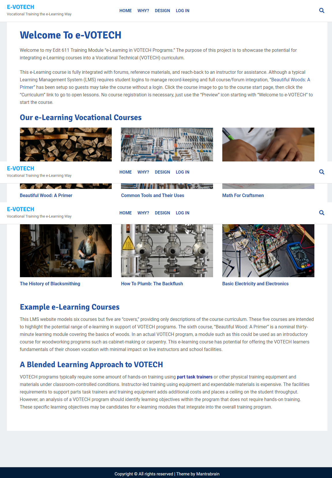 e-VOTECH Learning Management System